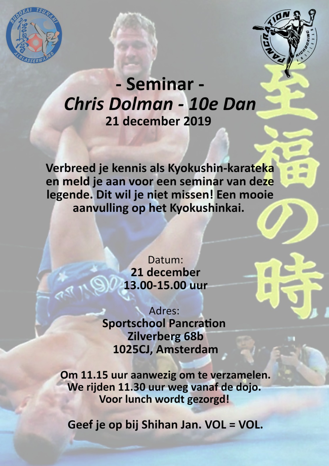 Seminar Chris Dolman 10th dan